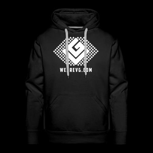 Logo-1 white - Men's Premium Hoodie