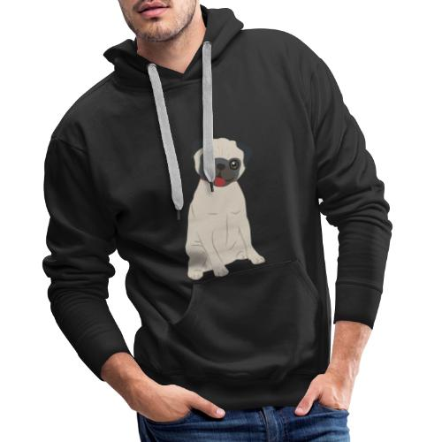 Pugs Lovers - Sudadera con capucha premium para hombre