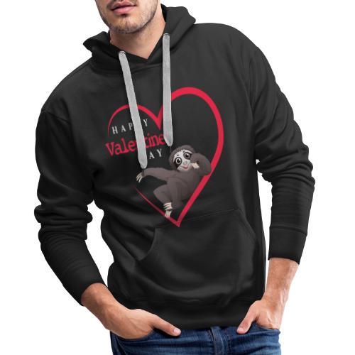 Sloth Valentines Day for Womens - Valentine Hear - Männer Premium Hoodie