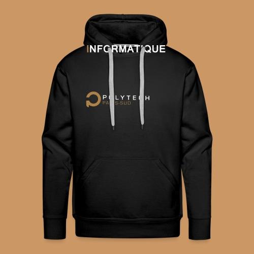 Motif Polytech jog info - Sweat-shirt à capuche Premium pour hommes
