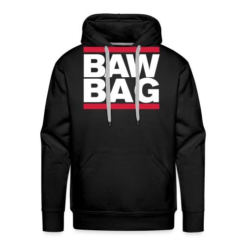 Bawbag Scotland White - Men's Premium Hoodie