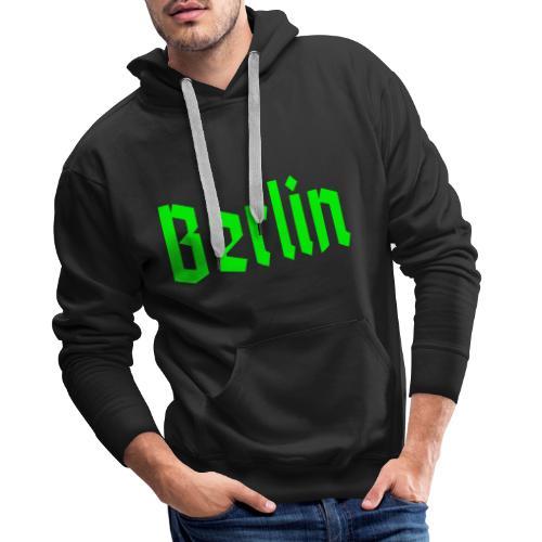 BERLIN Fraktur - Felpa con cappuccio premium da uomo