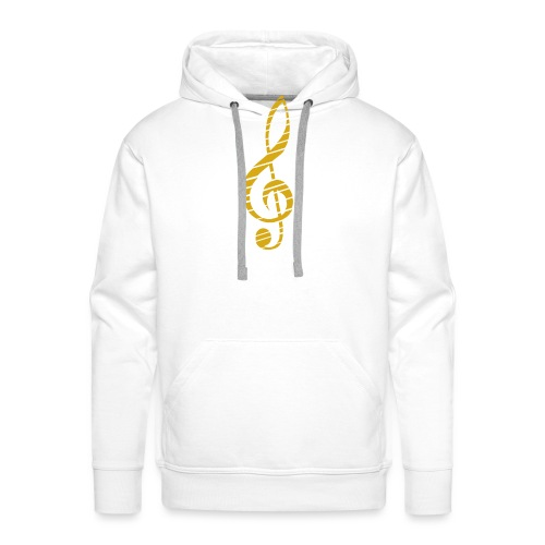 Goldenes Musik Schlüssel Symbol Chopped Up - Men's Premium Hoodie