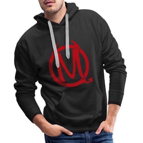 Logo Transparent rot - Männer Premium Hoodie