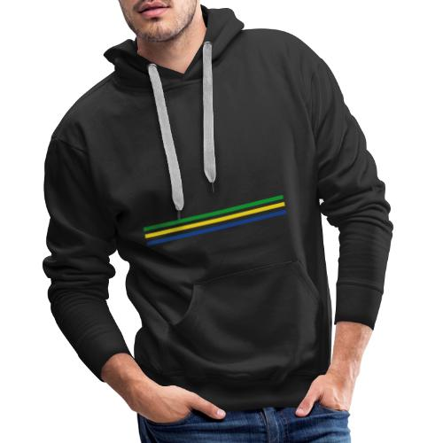 Trait brésil - version 2 - Sweat-shirt à capuche Premium pour hommes