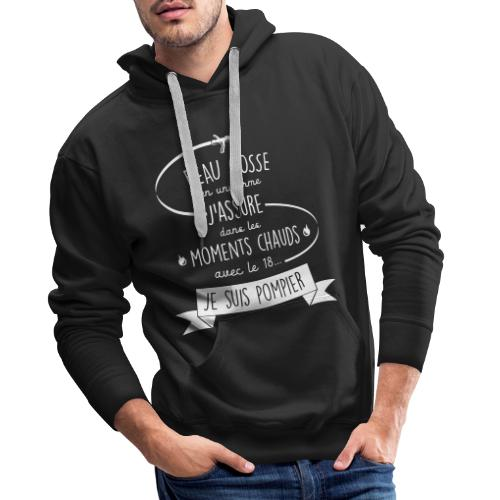 beau gosse pompier - Sweat-shirt à capuche Premium pour hommes