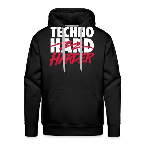 Techno harder - Men's Premium Hoodie