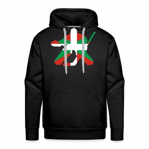 goalie et basque - Sweat-shirt à capuche Premium pour hommes