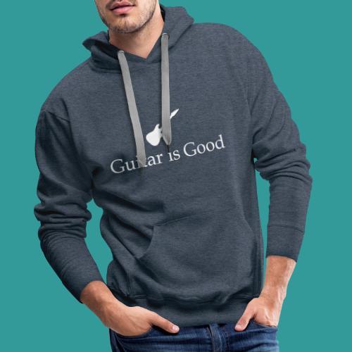 Guitar is Good Logo With Text - Men's Premium Hoodie