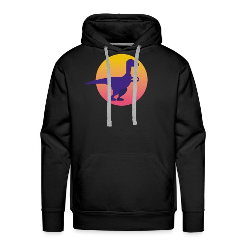Dinosaure 1 - Sweat-shirt à capuche Premium pour hommes