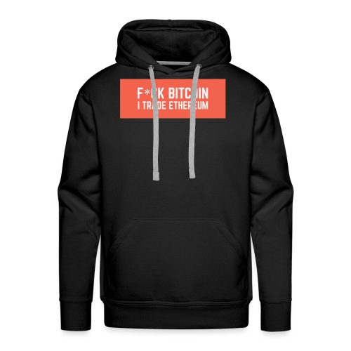 F*CK BITCOIN - Sweat-shirt à capuche Premium pour hommes