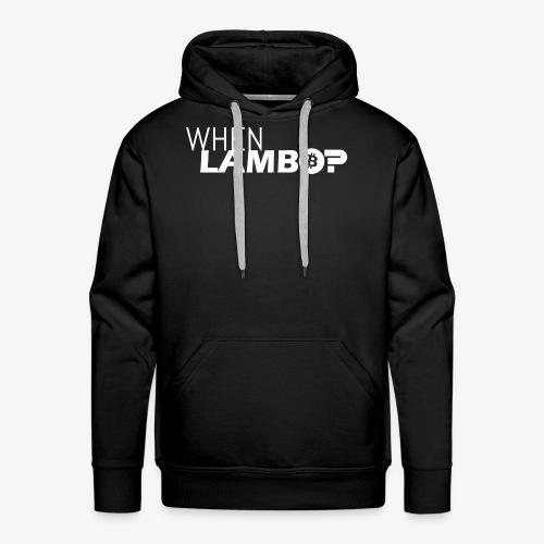 HODL-when lambo-w - Men's Premium Hoodie