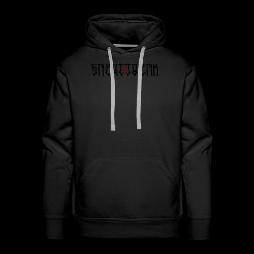 BLACK SNERTJOENK RED PENTAGRAM - Men's Premium Hoodie