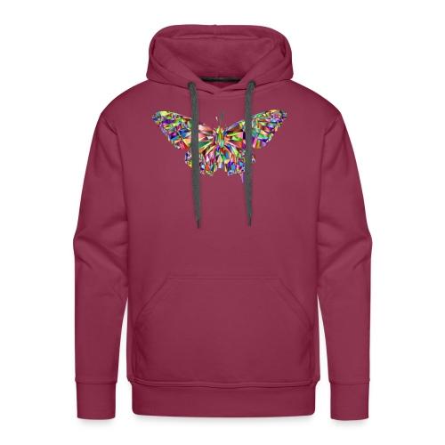 Geflogener Schmetterling - Männer Premium Hoodie