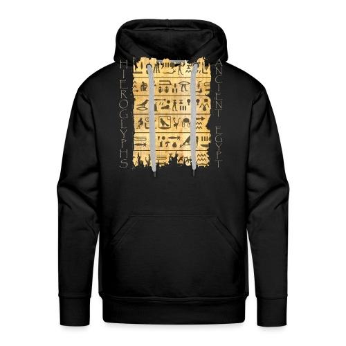 ausgerissener Papyri mit Hieroglyphen - Männer Premium Hoodie