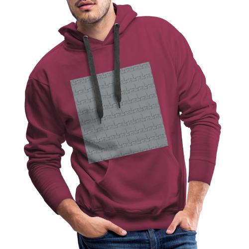 helsinki railway station pattern gray - Men's Premium Hoodie