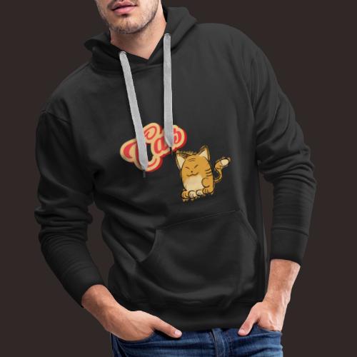 Katze | Katzen süß Schriftzug - Männer Premium Hoodie