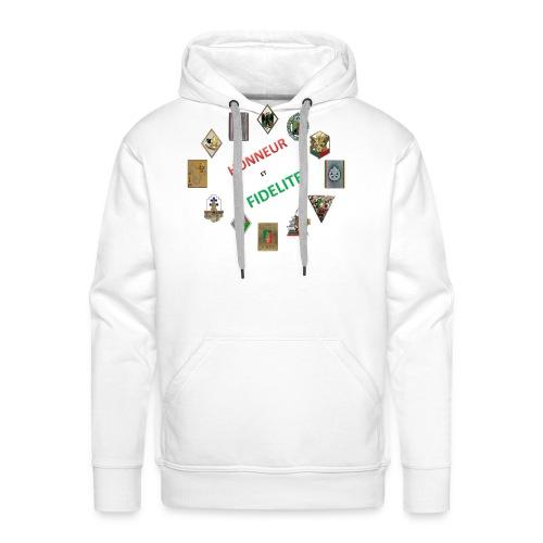 Les insignes de la Légion étrangère - Sweat-shirt à capuche Premium pour hommes