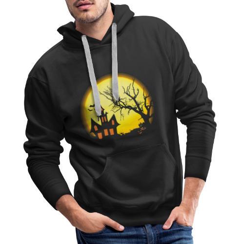 Halloween scary house t shirt tee shirt - Men's Premium Hoodie