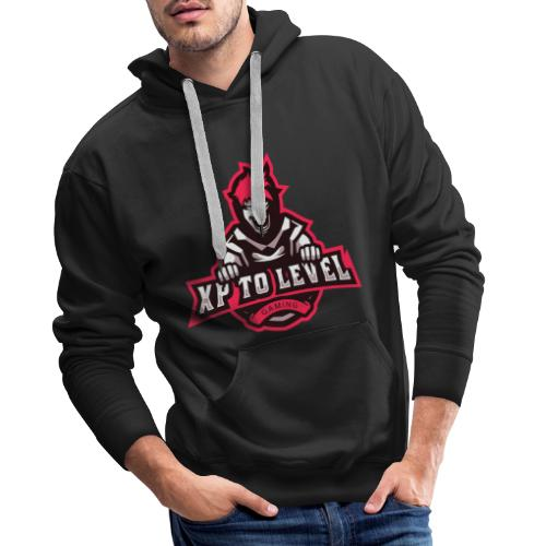 XP To Level Merchandise - Level Up Your Merch! - Men's Premium Hoodie