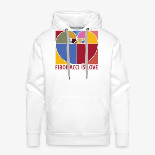 Fibonacci is love - Sweat-shirt à capuche Premium pour hommes