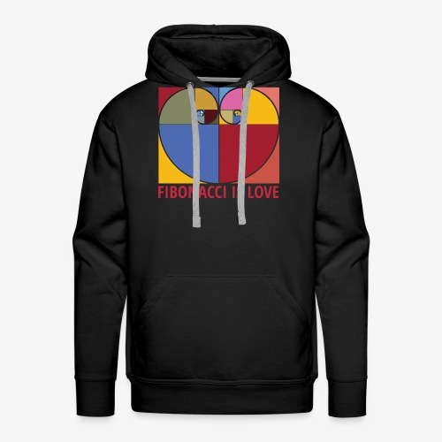 Fibonacci is love - Sweat-shirt à capuche Premium pour hommes