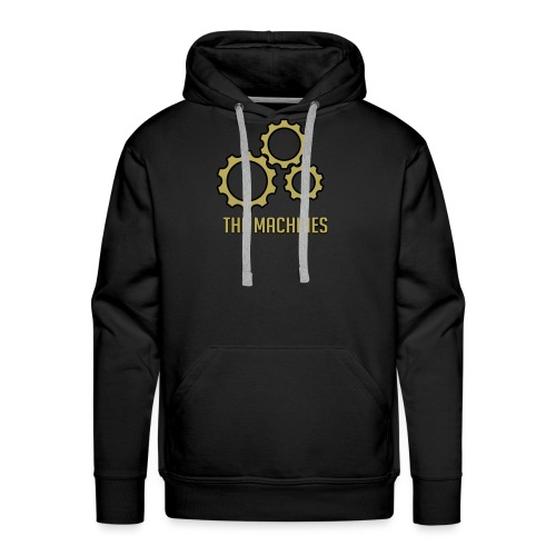 The Machines Logo Gold - Premium hettegenser for menn