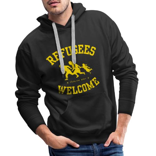 Refugees Welcome - Open your heart - Männer Premium Hoodie
