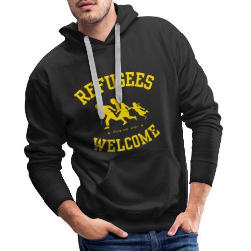 Refugees Welcome - Open your heart - Männer Premium Hoodie