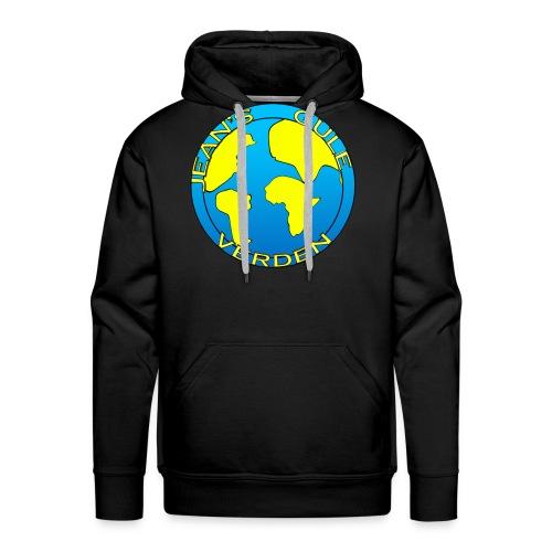 jean's gule verden logo earth - Premium hettegenser for menn