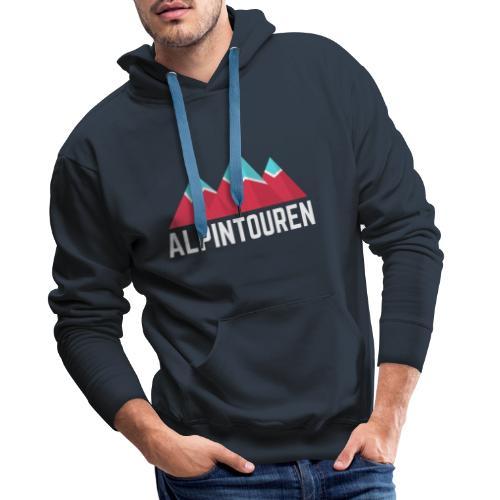 Alpintouren Logo - Männer Premium Hoodie