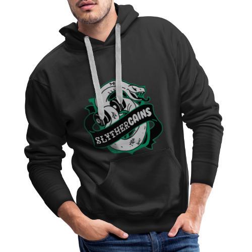 Hogweights Swolecraft Liftery Slythergains - Männer Premium Hoodie