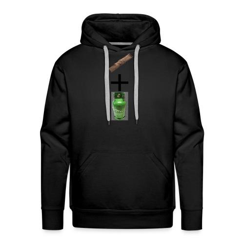 plank + gas - Sweat-shirt à capuche Premium pour hommes