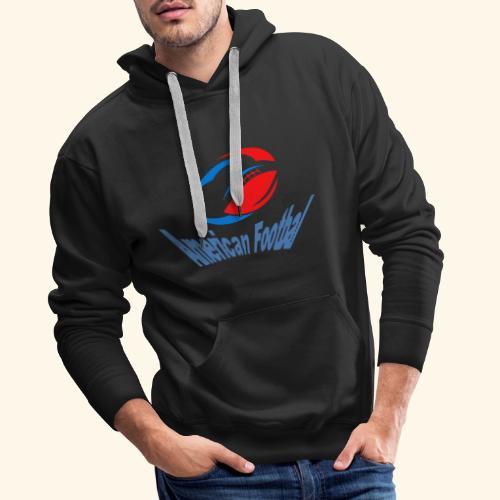 american football - Sweat-shirt à capuche Premium pour hommes