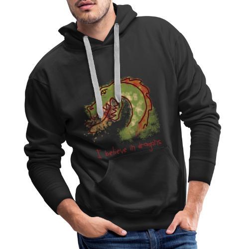 I believe in dragons - Men's Premium Hoodie