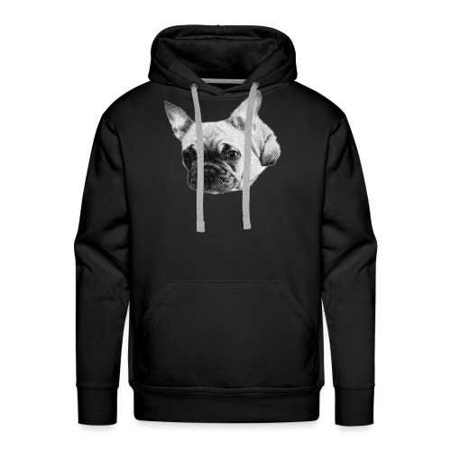 frenchie sketch - Men's Premium Hoodie
