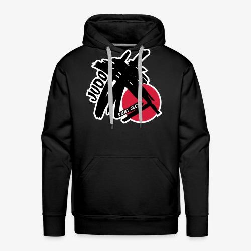 Logo Judo St gély - Sweat-shirt à capuche Premium pour hommes