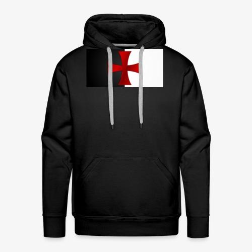 Drapeau Templier - Sweat-shirt à capuche Premium pour hommes
