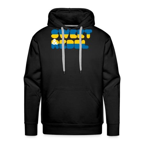 sweden flag - Sweat-shirt à capuche Premium pour hommes