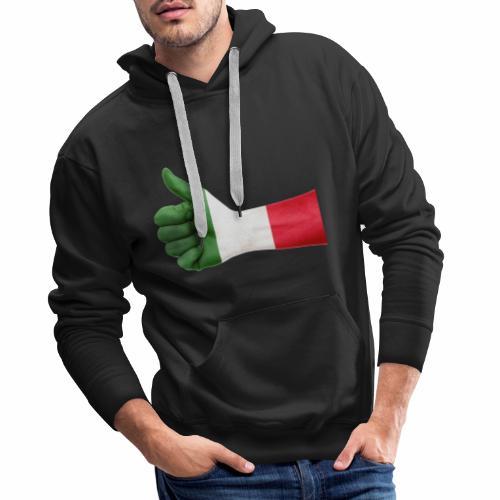 Italienische Flagge auf Daum - Männer Premium Hoodie