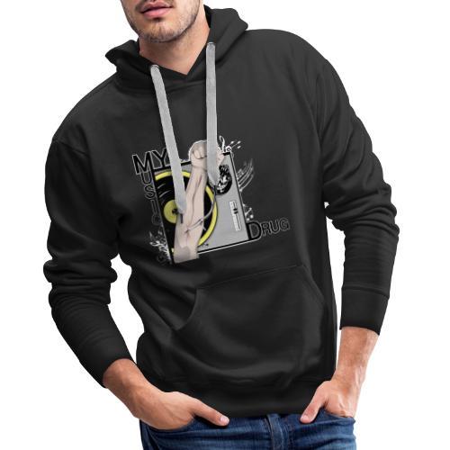 Music My Drug - Sweat-shirt à capuche Premium pour hommes