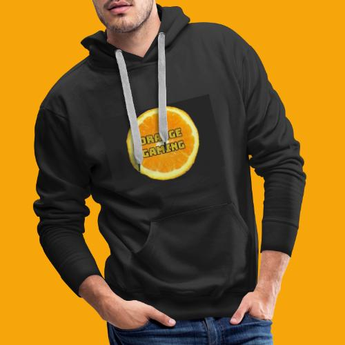 Orange_Logo_Black - Men's Premium Hoodie