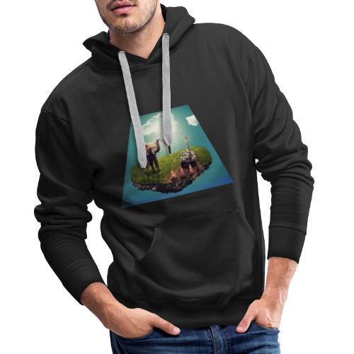 pequeño mundo - Sudadera con capucha premium para hombre