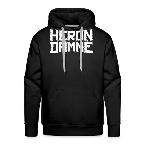 Héron Damné - Sweat-shirt à capuche Premium pour hommes