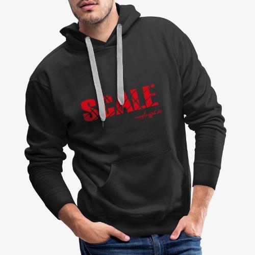 SCALE Logo rot - Männer Premium Hoodie