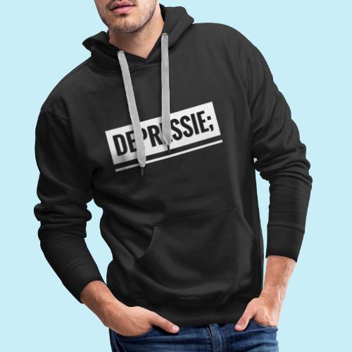 Depressie; - Sweat-shirt à capuche Premium pour hommes