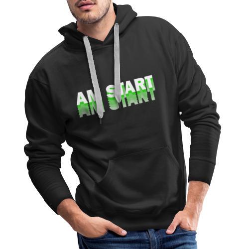 am Start - grün weiß faded - Männer Premium Hoodie