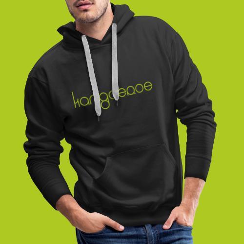 Green Kangoeroe design - Sweat-shirt à capuche Premium pour hommes