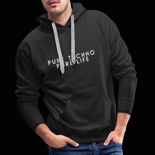 Pure Techno Pure Life White - Männer Premium Hoodie