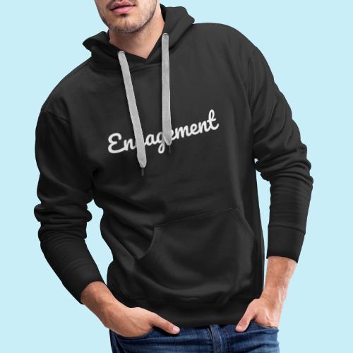 engagement - Sweat-shirt à capuche Premium pour hommes